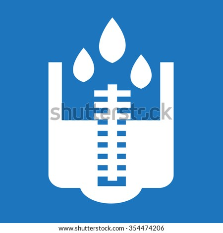 rain meter icon illustration
