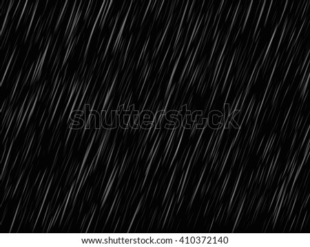 rain on black background