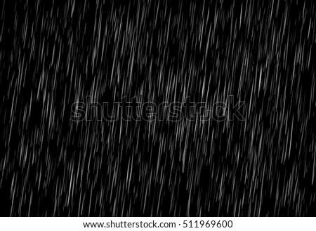 Rain on black. Vector rain texture. Abstract background