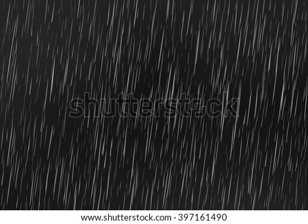 rain on black vector rain