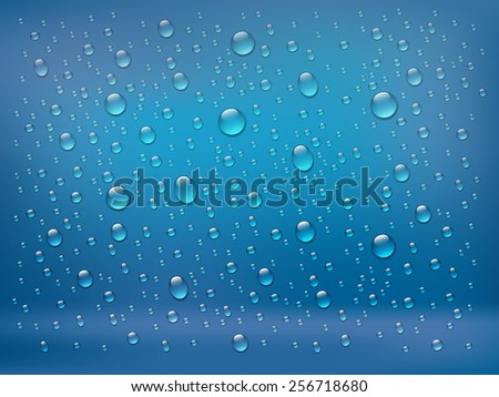 rain on glass water drops