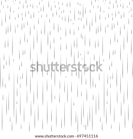 Rain pattern. Rainy day Autumn background with water drops, rain Fall background transparent. Rainy drops wallpaper. Autumn season pattern, black dynamic lines isolated on white. Vector Print