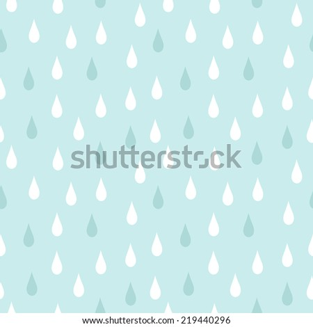 rain seamless vector pattern