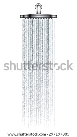 rain shower on white background