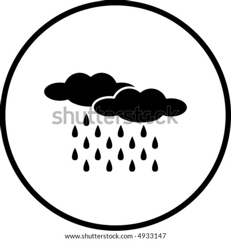 Rain Symbol Stock Vector 4933147 : Shutterstock