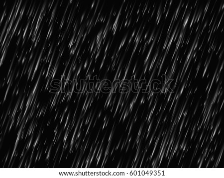 Rain texture on black background. Vector illustration