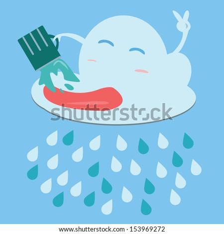 Rain.Vector image