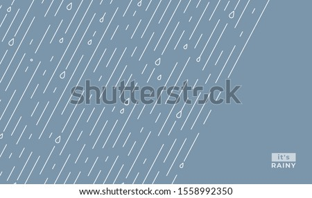 rain vector pattern it s rainy