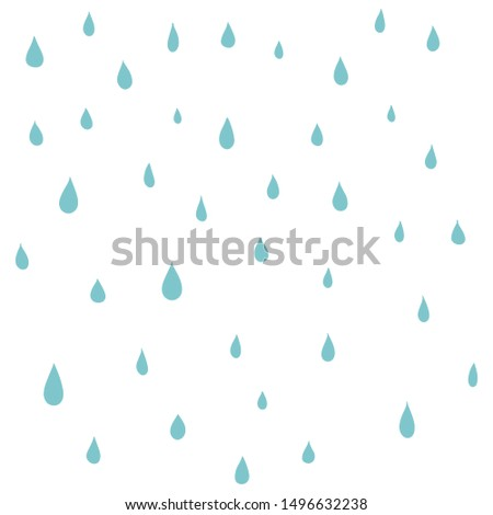 Rain water droplets pattern.Vector seamless dot pattern. Abstract geometric background.Spring abstract background in shades of blue.