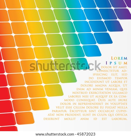 Rainbow abstract background - stock vector