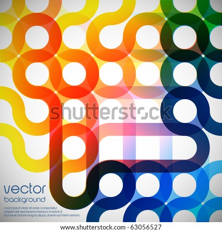 Rainbow abstract background made from circles