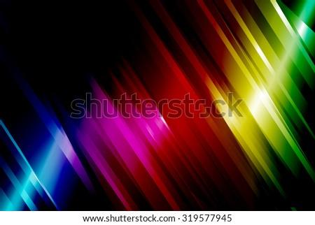 rainbow abstract line vector