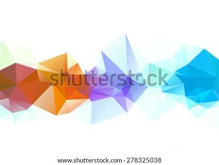 rainbow abstract triangle low