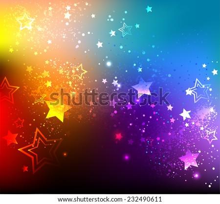 rainbow background with