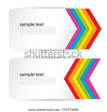 Rainbow banners - vector illustration