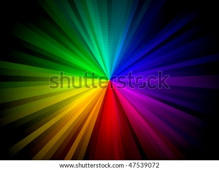 Rainbow Burst Background (Vector)
