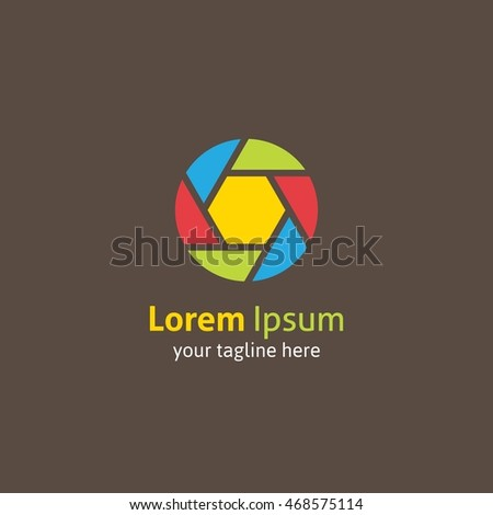 Rainbow Camera Logo Template Design Vector