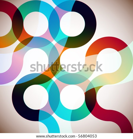 Rainbow Circles. Colorful Abstract Vector Background