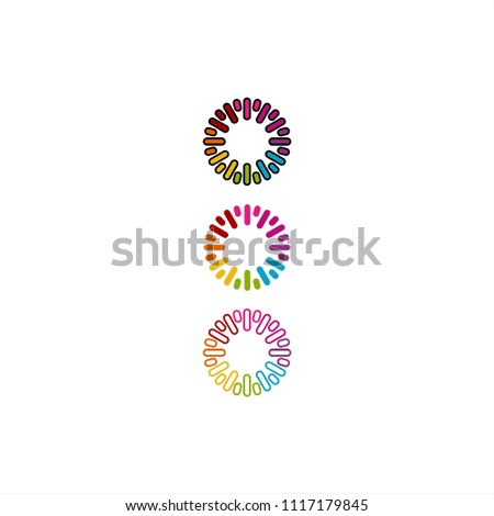 Rainbow clockwise or loading element vector design