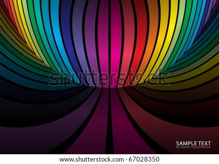 Rainbow color background scene - Vector  colorful striped background illustration