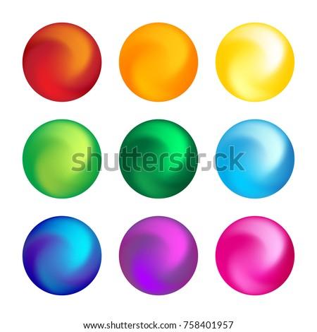 rainbow color ball
