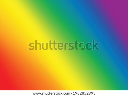 Rainbow color blurred lines background,copy space,banner and wallpaper,LGBTQ+ flag Pride month symbol of lesbian Gay Bisexual Transgender.Celebrated annual , against homosexual. Stockfoto ©