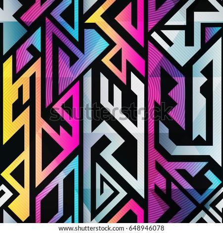 rainbow color geometric