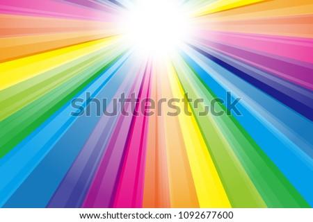 rainbow color radiant light