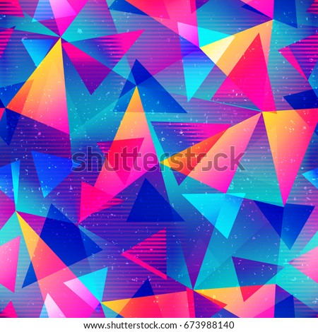 rainbow color triangle seamless