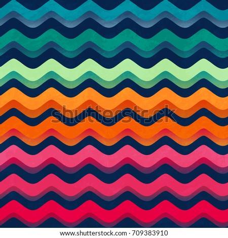 rainbow color wave seamless