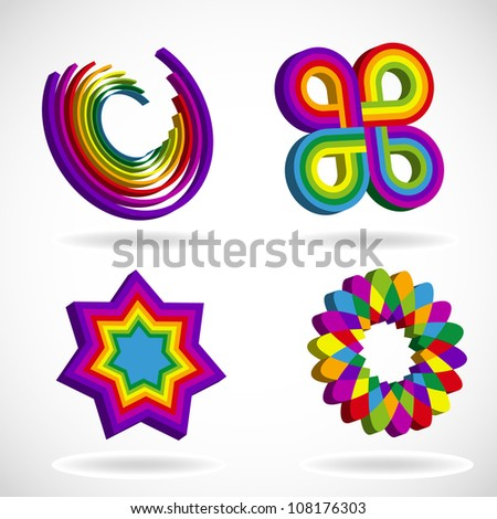 Rainbow Colors Logos Rainbow Colored Abstract Logo