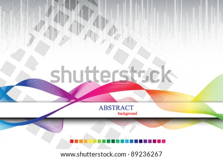rainbow colored abstract template cover