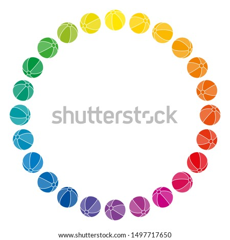 rainbow colored balls forming a