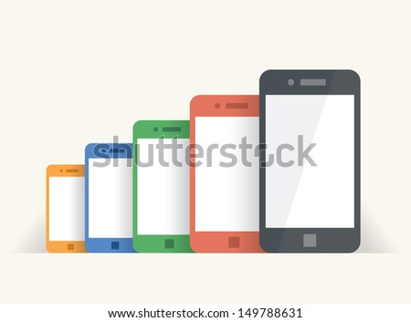 rainbow colored mobile phones