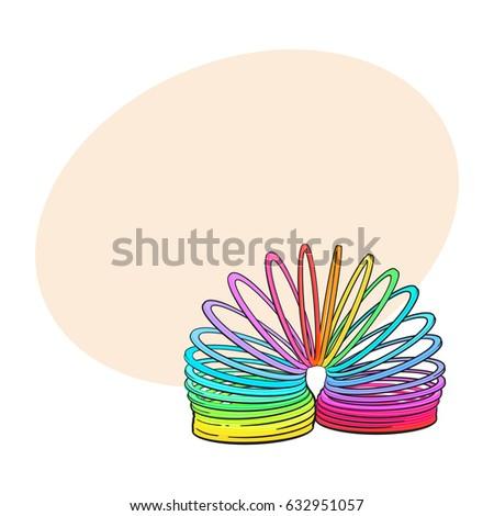 rainbow colored plastic spring