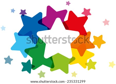 rainbow colored stars forming a