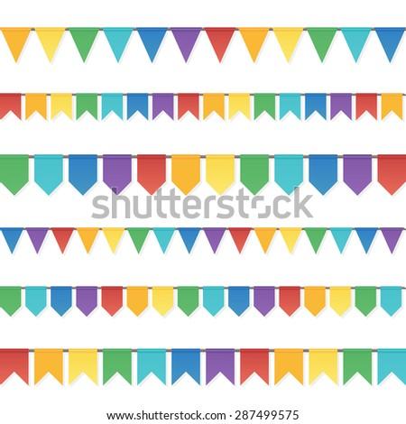 rainbow colors flat style