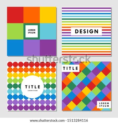 rainbow colors modern patterns