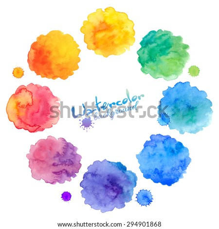 rainbow colors vector