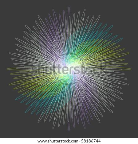rainbow curve art