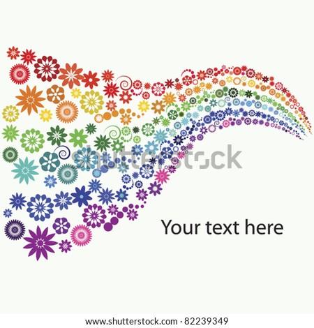 rainbow flowers   multi colored