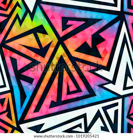 rainbow geometric seamless
