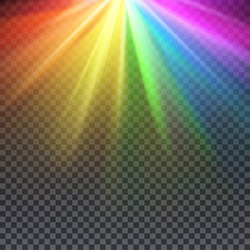 Rainbow glare spectrum with gay pride colors vector illustration