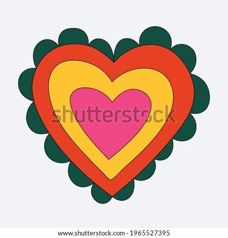 rainbow heart shape romantic