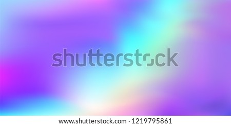 Rainbow Hologram Gradient Vector Background. Luxury Trendy Tender Pearlescent Glam Overlay. Rainbow Holographic Princess, Fairytale, Cute Girlie Texture. Unicorn Fairy Tale Neon Hologram Gradient