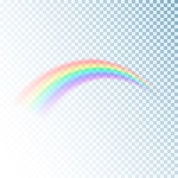Rainbow icon. Colorful light and bright design element for decorative. Abstract rainbow image. Vector illustration isolated on transparent background