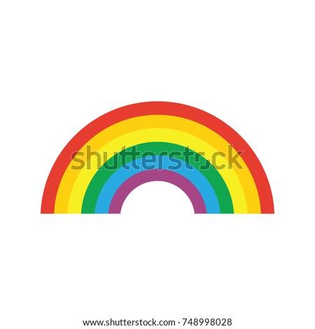 rainbow icon flat homosexual