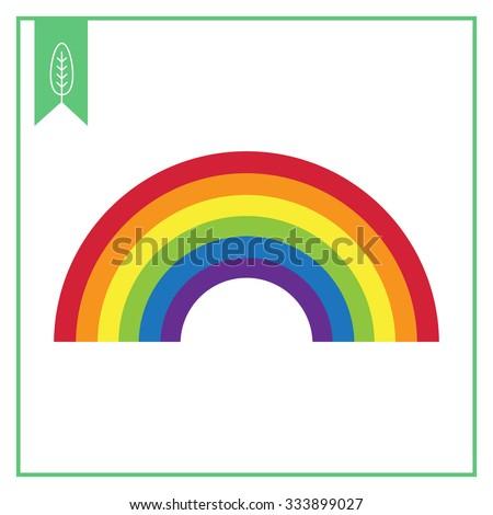 rainbow icon flat rainbow icon