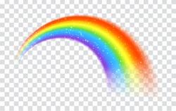 Rainbow icon isolated on transparent background
