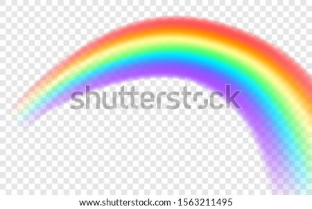 rainbow icon realistic arch